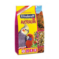 Vitakraft (Витакрафт) Australian. Корм для австралийских попугаев средних пород с кактусом 750г