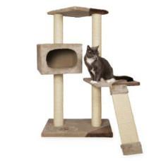 Домик для кошки Almeria 106см, бежевый/коричневый