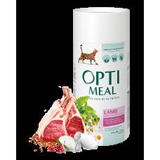 Корм Optimeal для кошек с чувствительным пищеварением с ягненком 0,3кг; 0,65кг; 4кг