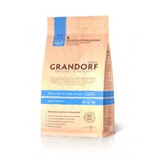 Grandorf White fish & Potato ADULT SENSITIVE - белая рыба для взрослых кошек 33/16 - 0,4кг; 2кг