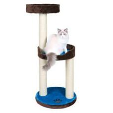 Домик для кошки Lugo, 103см, плюш, коричневый/синий.