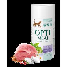 Корм Optimeal для кошек эффект выведения шерсти с уткой 0,3кг; 0,65кг; 4кг