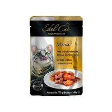 Консервы Edel Cat (пауч) Нежные кусочки в ЖЕЛЕ с курицей и уткой 100г