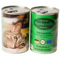 Консерва Баскервиль для котов. Оленина с мясом курицы