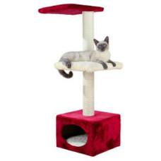 Домик для кошки Elena, 109 см, красный/бежевый