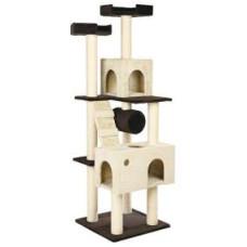 Домик для кошки Mariela, 176 см, коричневый / бежевый