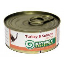 Natures Protection Kitten Turkey&Salmon 0.1 кг;0.4 кг