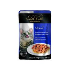 Консервы Edel Cat (пауч) Нежные кусочки в СОУСЕ с лососем и форелью 100г