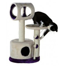 Домик для кошки Lucia,75 см, бежевый/фиолетовый