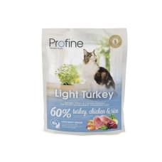 Profine (Профайн) LIGHT натуральное мясо индейки и рис для котов и кошек с избыточным весом 0.3кг;2кг;10кг