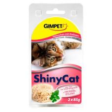 Gimpet (Джимпет) Shiny Cat. Консервированный корм для котов с курицей и крабами 0.07 кг