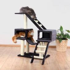 Домик для кошки Malaga высота 109см, плюш, антрацит