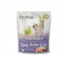 Profine (Профайн) STERILISED натуральное куриное мясо и рис для стерилизованных и кастрированных кошек и котов 0.3кг;10кг