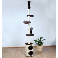 Домик для кошки Linea 225-265 см, плюш, коричневый.