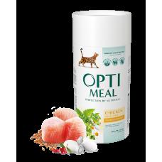 Корм Optimeal для кошек с курицей 0,3кг; 0,65кг; 4кг; 4,5кг; 10кг