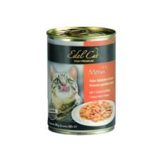Консервы Edel Cat Нежные кусочки в СОУСЕ 3 вида мяса 400г