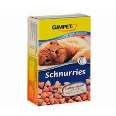 Gimpet (Джимпет) Schnurries Витаминные сердечки с лососем для котов 650табл