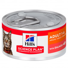 Hill's (Хиллс) Science Plan Feline Adult Salmon влажный корм для взрослых кошек с лососем 82г