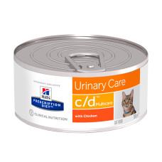 Hill's (Хиллс) Prescription Diet Feline c/d Multicare Chicken диета с курицей для кошек, страдающих от мочекаменной болезни 156г