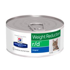 Hill's (Хиллс) Prescription Diet Feline r/d Weight Reduction диета с курицей для кошек, страдающих от ожирения 156г