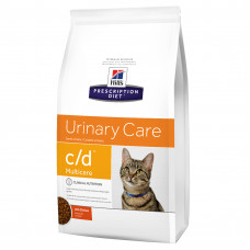 Hill's (Хиллс) Prescription Diet Feline c/d Multicare Chicken диета с курицей для кошек, страдающих от мочекаменной болезни 0.4кг;1.5кг;5кг;10кг
