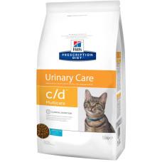 Hills (Хиллс) Prescription Diet Feline c/d Multicare Ocean Fish диета для кошек, страдающих от мочекаменной болезни c океанической рыбой 1.5кг;5кг