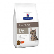 Hill's (Хиллс) Prescription Diet Feline L/d корм для кошек, страдающих от заболеваний печени 1.5кг