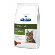 Hill's (Хиллс) Prescription Diet Feline Metabolic диета для кошек, страдающих от ожирения или избыточного веса 1,5кг; 4кг