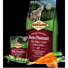 Carnilove (Карнилав) Adult Cat Duck & Pheasant Hairball Control беззерновой корм с уткой и фазаном для котов и кошекс эффектом выведения шерсти 0,4кг; 2кг; 6кг