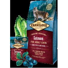 Carnilove (Карнилав) Adult Cat Salmon Sensitive & Long-Hair беззерновой корм с лососем для длинношерстных котов и кошек с чувствительным пищеварением 0,4кг; 2кг; 6кг