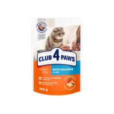 Клуб 4 Лапы. Влажный корм для кошек с лососем в желе 100г