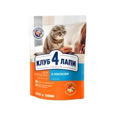 Клуб 4 Лапы. Сухой корм для кошек с лососем 0,3кг;14кг