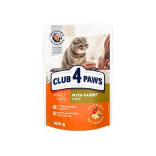 Клуб 4 Лапы. Влажный корм для кошек с кроликом в желе 100г