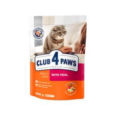 Клуб 4 Лапы. Сухой корм для кошек с телятиной 0.3кг;14кг