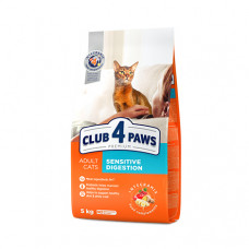 Клуб 4 Лапы. Сухой корм для кошек с чувствительным пищеварением 5кг;14кг
