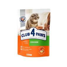 Клуб 4 Лапы. Сухой корм для кошек с куриным филе 0.3кг;0,9кг;14кг