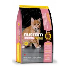 S1 NUTRAM Sound Balanced Wellness Kitten корм холистик для котят с курицей и лососем 0,32кг; 1,13кг; 5,4кг; 20кг