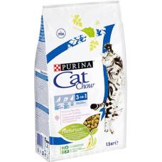 Cat Chow Adult 3 в 1 корм для взрослых кошек с индейкой 0.4кг; 1,5кг; 15кг