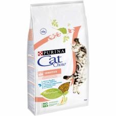 Cat Chow Special Care Sensitive корм для котов и кошек с чувствительным пищеварением 1,5 кг; 15кг