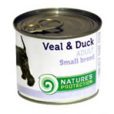 Natures Protection Adult small breed Veal & Duck 0.2 кг;0.4 кг
