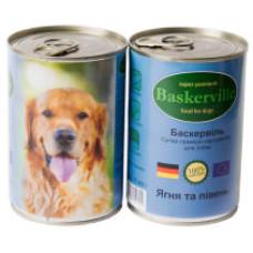 Консерва Баскервиль для собак. Ягненок с петухом 0,4кг, 0,8кг