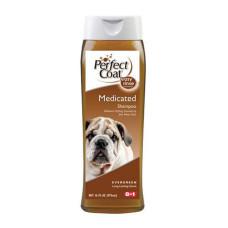 8in1 (8 в 1) Shampoo Medicated (США). Лечебный шампунь для собак от перхоти и зуда с дегтем 473мл