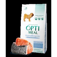 Корм Optimeal для собак средних пород гипоаллергенный с лососем 0,65 кг; 4 кг; 12; кг