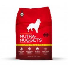 Nutra Nuggets lamb&rice корм для собак с мясом ягненка, склонных к аллергии 1кг, 3кг, 15кг