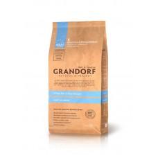 Grandorf White Fish & Rice All Breeds - белая рыба для взрослых собак 25/15 - 1кг; 3кг; 12кг
