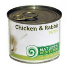 Natures Protection Puppy chicken & rabbit 0.2 кг;0.4 кг
