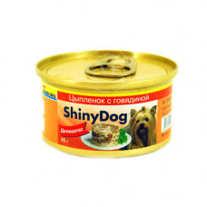 Gimpet (Джимпет) Shiny Dog Chicken & Beef. Консервированный корм для собак с курицей и говядиной 0.085 кг