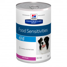 Hill's (Хиллс) Prescription Diet Canine d/d Duck & Rice влажный корм для собак, склонных к пищевой аллергии с уткой и рисом 370г