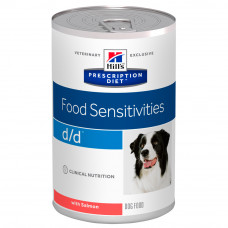 Hill's (Хиллс) Prescription Diet Canine d/d Salmon & Rice влажный корм для собак, склонных к пищевой аллергии с лососем и рисом 370г