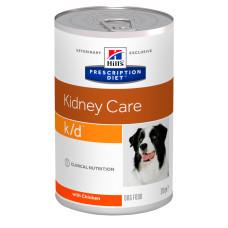 Hill's (Хиллс) Prescription Diet Canine k/d влажный корм для собак при почечной недостаточности с курицей 370г